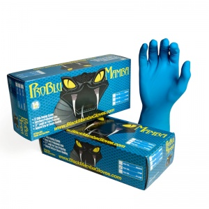 Pro Blu Mamba Disposable Latex Gloves BX-PLB